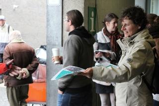 Actie aan station: Groen wil rechtvaardige herverdeling